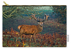 Red Deer Stag In Woodland Carry-all Pouch