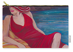 Red Dress Reclining Carry-all Pouch