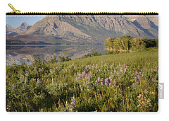 Carry-all Pouch featuring the photograph Red Eagle Mountain by Jack Bell