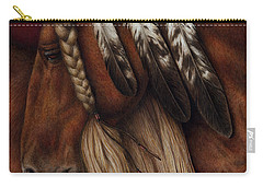 Carry-all Pouch featuring the painting Red Eagle by Pat Erickson