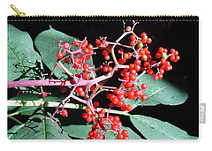Red Elderberry Carry-all Pouch by Cheryl Hoyle