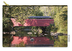 Red Fairhill Covered Bridge Two Carry-all Pouch by Alice Gipson