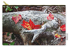 Red Fall Against Grey Carry-all Pouch