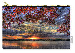 Good Bye Until Tomorrow Fall Leaves Sunset Lake Oconee Georgia Carry-all Pouch