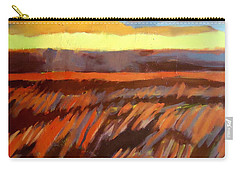 Carry-all Pouch featuring the painting Red Field by Helena Wierzbicki