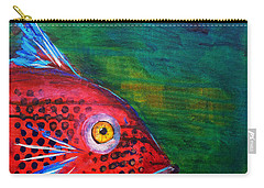 Red Fish Carry-all Pouch by Nancy Merkle