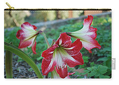 Red Flower 1 Carry-all Pouch by George Katechis