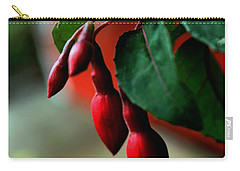 Red Flower Buds Carry-all Pouch by Pamela Walton
