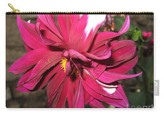 Red Flower In Bloom Carry-all Pouch by HEVi FineArt