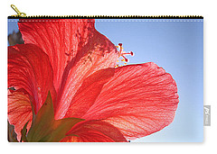 Red Flower In The Sun By Jan Marvin Studios Carry-all Pouch