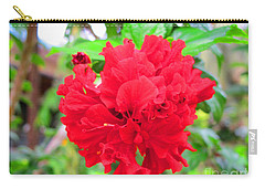 Carry-all Pouch featuring the photograph Red Flower by Sergey Lukashin