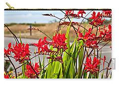 Red Flowers Crocosmia Lucifer Montbretia Plant Art Prints Carry-all Pouch