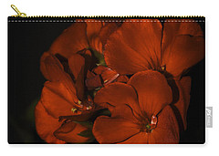 Carry-all Pouch featuring the photograph Red Flowers In Evening Light by Lucinda Walter
