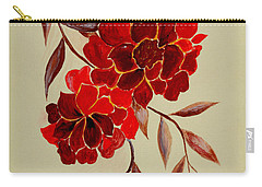 Red Flowers - Painting Carry-all Pouch