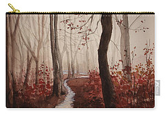 Red Forest Carry-all Pouch by Rachel Hames