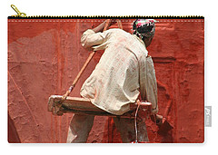 Carry-all Pouch featuring the photograph Red Fort Painter by Nola Lee Kelsey
