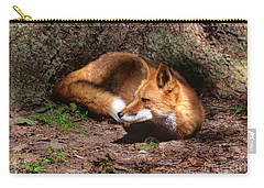 Red Fox Resting Carry-all Pouch
