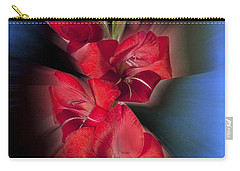 Carry-all Pouch featuring the photograph Red Gladiola by Mark Greenberg
