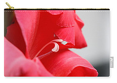 Lady In Red Carry-all Pouch by Patti Whitten
