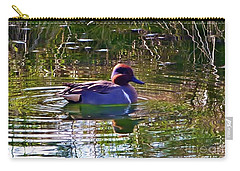 Carry-all Pouch featuring the photograph Red Headed Duck by Susan Garren