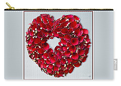 Carry-all Pouch featuring the photograph Red Heart Wreath by Victoria Harrington