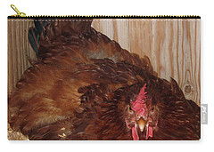 Red Hen Carry-all Pouch by Pamela Walton