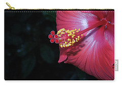 Carry-all Pouch featuring the photograph Red Hibiscus by Ron Davidson