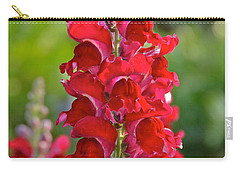 Red Snapdragon Carry-all Pouch by Carol  Bradley