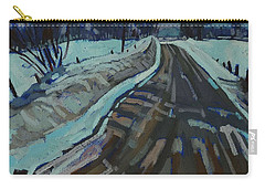 Red Horse Road Carry-all Pouch by Phil Chadwick