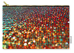 Red Hot Bokeh Bling Carry-all Pouch by Debbie Portwood