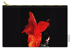 Carry-all Pouch featuring the photograph Red Hot Canna Lilly by Michael Hoard