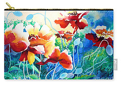 Carry-all Pouch featuring the painting Red Hot Cool Blue by Kathy Braud