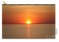 Carry-all Pouch featuring the photograph Red-hot Sunset by John Telfer