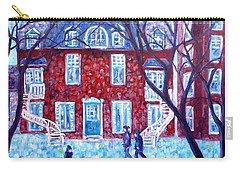 Red House In Montreal - Cityscape Carry-all Pouch