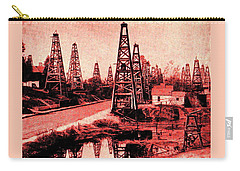 Red Indiana Oil Wells Circa 1900 Carry-all Pouch by Peter Gumaer Ogden
