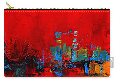 Carry-all Pouch featuring the painting Red Inspiration by Elise Palmigiani