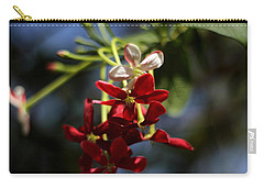 Carry-all Pouch featuring the photograph Red Jasmine Blossom by Ramabhadran Thirupattur