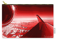 Carry-all Pouch featuring the photograph Red Jet Pop Art Plane by R Muirhead Art