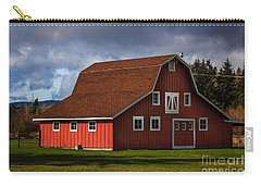 Carry-all Pouch featuring the photograph Red Kirsop Barn by Jean OKeeffe Macro Abundance Art