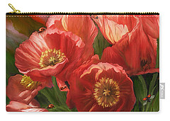 Red Ladies Of Summer Carry-all Pouch by Carol Cavalaris
