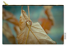 Red Leaf Close-up Carry-all Pouch by Vlad Baciu