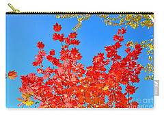 Carry-all Pouch featuring the photograph Red Leaves by David Lawson