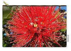 Red Lehua Carry-all Pouch by Pamela Walton