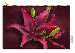 Red Lilies Carry-all Pouch by Jane McIlroy