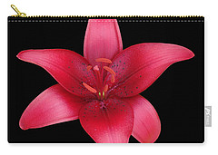 Carry-all Pouch featuring the photograph Red Lily by Judy Whitton