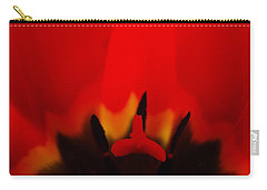 Carry-all Pouch featuring the photograph Red Lips by Jani Freimann