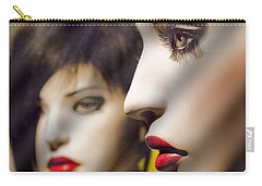 Red Lips - Black Heart Carry-all Pouch