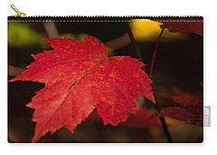Red Maple Leaf In Fall Carry-all Pouch