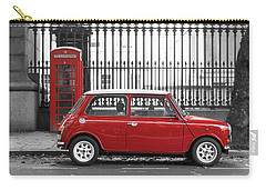 Red Mini Cooper In London Carry-all Pouch