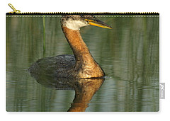 Carry-all Pouch featuring the photograph Red-necked Grebe by James Peterson
